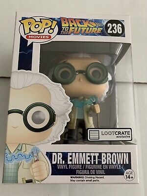 Funko Pop Back to the Future Dr. Emmett Brown w/Lightning Loot Crate Excl #236