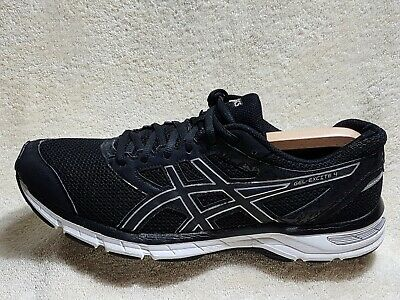 Asics Gel-Excite 4 mens trainers Black/Silver/White UK 10 EU 45 US 11