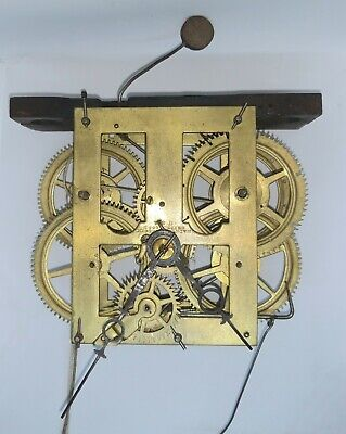 ANTIQUE CLOCK MOVEMENT - 19th Century American Movement made by Chauncey Jerome