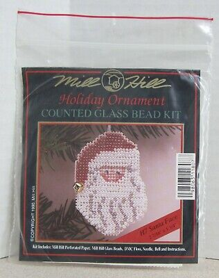Mill Hill Counted Glass Bead Ornament Kit - Santa Face H7