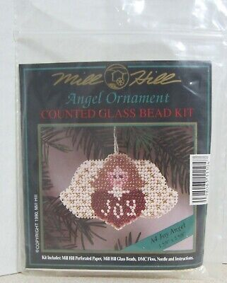 Mill Hill Counted Glass Bead Ornament Kit - Joy Angel A4