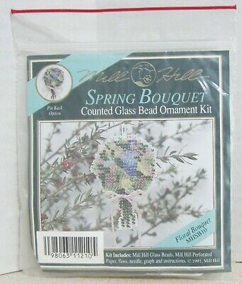 Rootbeer Dragonfly Bead Cross Stitch Kit Mill Hill 2000 Spring Bouquet
