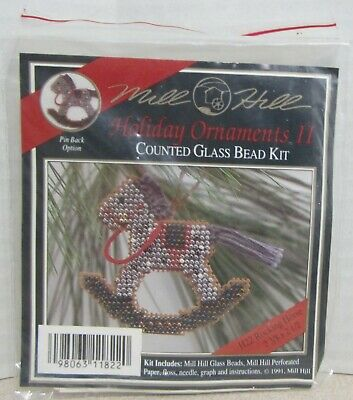 Mill Hill Counted Glass Bead Ornament Kit - Holiday Ii Rocking Horse H22