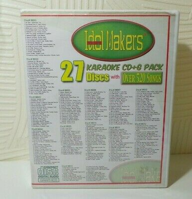 Idol Makers 27 Discs With Over 520 Songs Karaoke Cd+G Pack