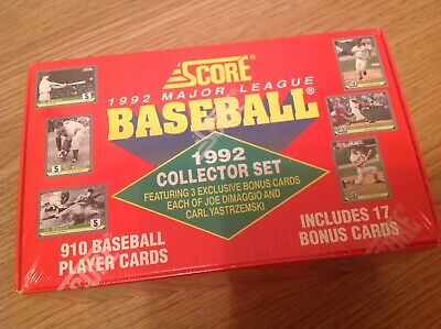 Huge Sealed Complete Collectors Set 1992 Score MLB Baseball TRADING CARDS