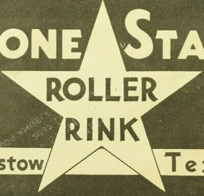 1930's-50's Lone Star Barstow, TX Roller Skating Label Vintage B7