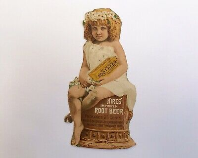 Antique Advertising Trade Card Hire's Root Beer