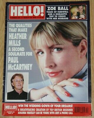 PAUL McCARTNEY & HEATHER MILLS Hello 2000 UK mag cover & 7 page article beatles
