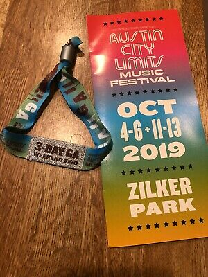 (1) Austin City Limits Weekend TWO - 3 Day General Admission 2019 Wristband