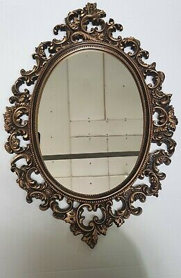 Rare hand carved Antique Ornate timber Framed Mirror ,Durable, home decor, M