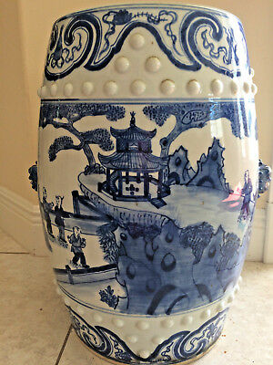 Chinese Garden Stool Barrel Drum Bats Boys Firecracker Fish Porcelain