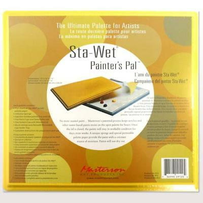 Masterson  'Sta-Wet'   Painter's Palette  -  13 x 12 inches   + 10 Solvent Cups