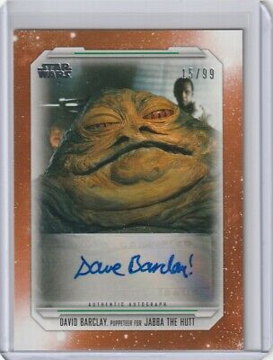 Dave Barclay Jabba 2019 Topps Star Wars Skywalker Saga Auto Orange /99