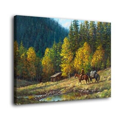 "Western lodge Paintings HD Print on Canvas Home Decor Wall Art Pictures 16""x22"""