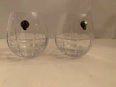Waterford Crystal Cluin Stemless Wine Glasses (2) 12oz