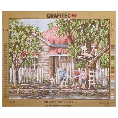 Grafitec Printed Tapestry Needlepoint THE MASTERBUILDERS by Gordon Hanley New