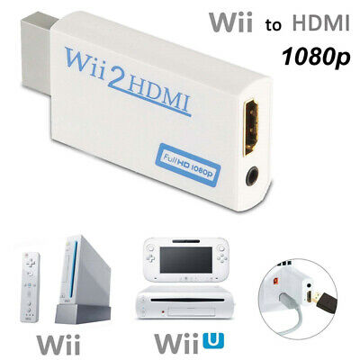 Wii to HDMI Adapter Converter Full HD 1080P Video 3.5mm Audio Output For HDTV