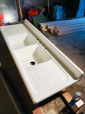 Vintage 1950 Double drain board sink