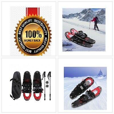 Durable All Terrain Sports Snowshoes w/Walking Poles & Free Carrying Bag-Outdoor