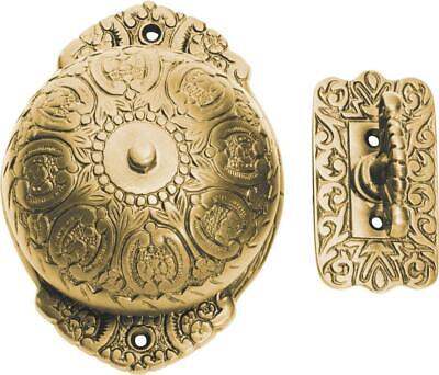 polished brass ornate manual door bell with turn handle,door ringer,TH 5504