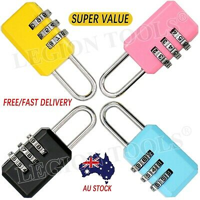 3Dial Luggage Locks Combination Padlock Travel Suitcase Resettable Password Lock