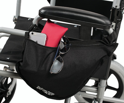 Manual Wheelchair Zipped Side Bag - Different Colours Shower proof material