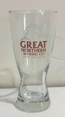 GREAT NORTHERN BREWING CO SUPER CRISP LAGER BEER GLASS 425ml,GREAT NORTHERN BEER