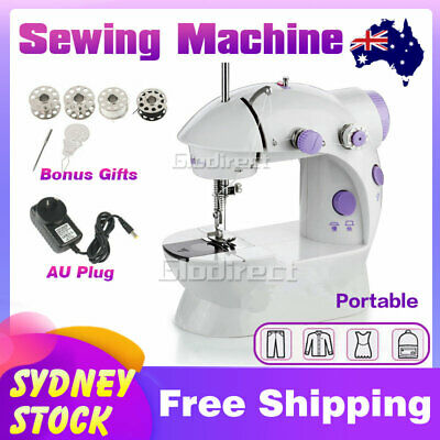 Mini Sewing Stitch Machine Electric Portable Desktop LED Handheld Kit Cordless