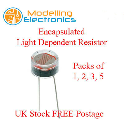 Encapsulated Light Dependant Resistor LDR Photo Cell