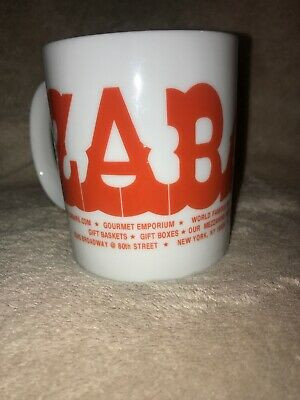 "Vintage Zabar's Souvenir Coffee Tea Mug New York City NY Gourmet Food - 4""  Cup"