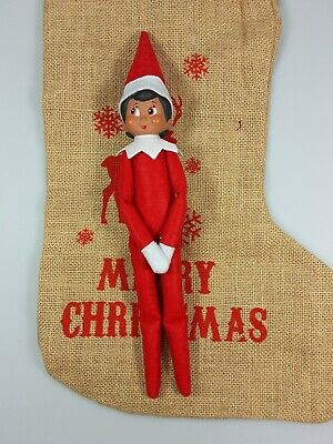 Elf Dark Red Girl Soft Toy Decoration