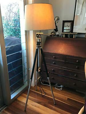 Antique German camera tripod Standard lamp