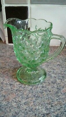 Art Deco Glass Jug Sowerby Oxford Pattern