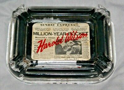 Glass Ashtray from Harold Wilson politician collection