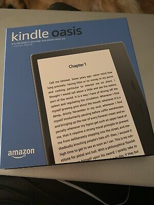 """Kindle Oasis Graphite Waterproof 7"""" High Res 8GB WiFi With Page Turn 9th Gen New"""