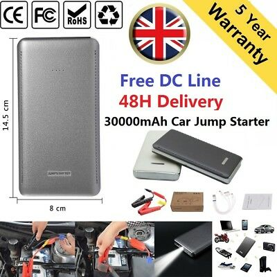 30000mAh 12V Car Jump Start Battery Charger Booster Power Pack Starter Rescue UK