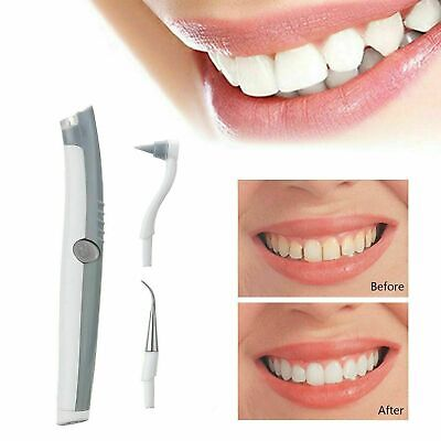 Electric Dental Tooth Stain Polisher Teeth Whitener Plaque Eraser Remover