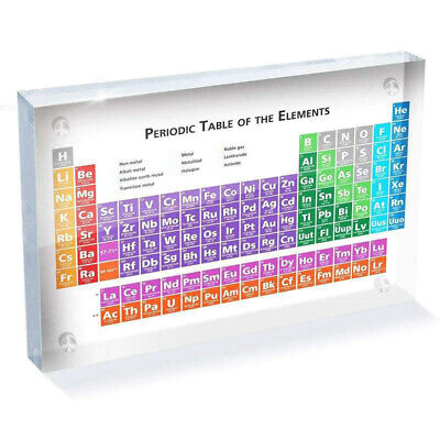 Acrylic Periodic Table Of Elements Display Student Teacher Gifts Desk Ornament