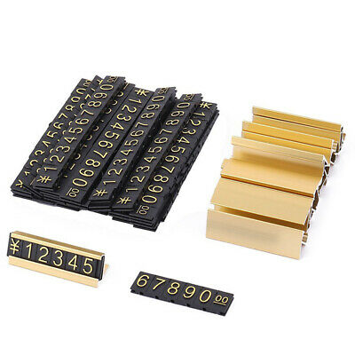 2X(19 groups gold-tone metal, Arabic numerals together price tags A7B9)