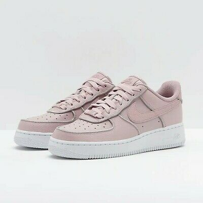 NIKE AIR FORCE 1 LO Particle Rose silver trim UK Size 6