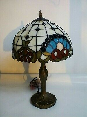 "& Tiffany Style Handcrafted Glass Table Bedside Decor Light Lamp 16"" Shade 5:21"