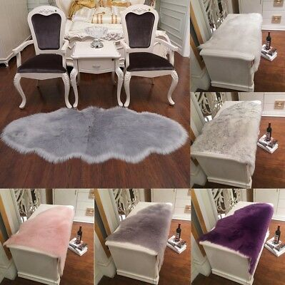 Faux Fur Fake Sheepskin Rugs Washable Soft Fluffy Bedroom Hairy Mat