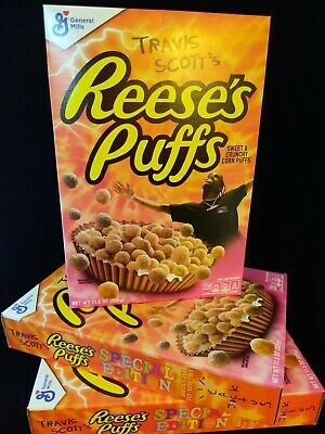 Travis Scott x Reese's Puffs cereal SOLD OUT - Bundle of 4 boxes
