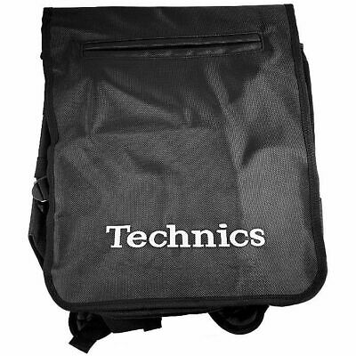 Technics Backpack 12 Inch LP Vinyl Record Bag (black with silver logo)
