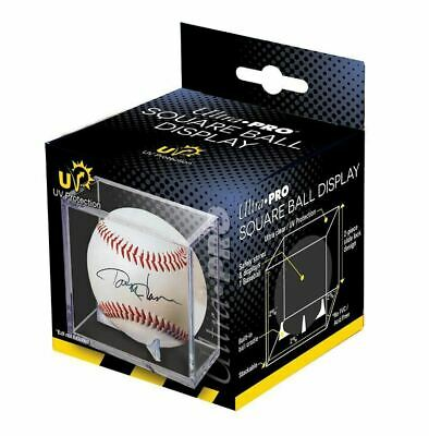 Ultra Pro Square Baseball Display Case with UV Protection & Built In Cradle NEW
