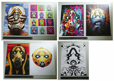 BORDERLANDS Art Print Set of 7 Mini Poster SDCC 2019 Exclusive Limited Edition