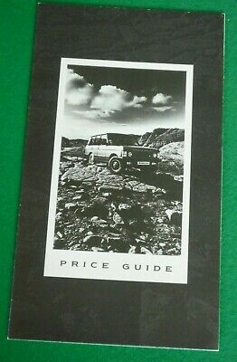 1990 Range Rover Price Model Guide (Turbo D Vogue Se Land) Rr506