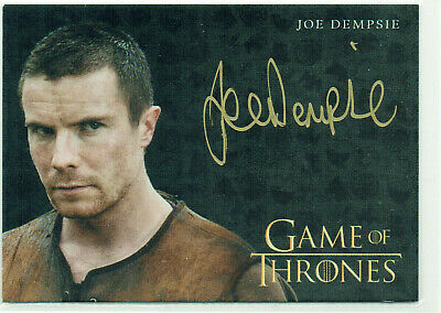 Game of Thrones Inflexions Gold Autograph Card Joe Dempsie as Gendry