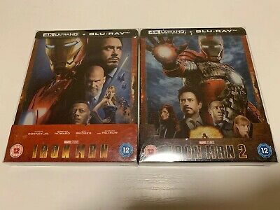 Iron Man + Iron Man 2 4K UHD Blu-ray SteelBook Exclusive