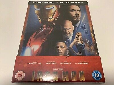 Iron Man 4K UHD Blu-ray steelbook UK exclusive.